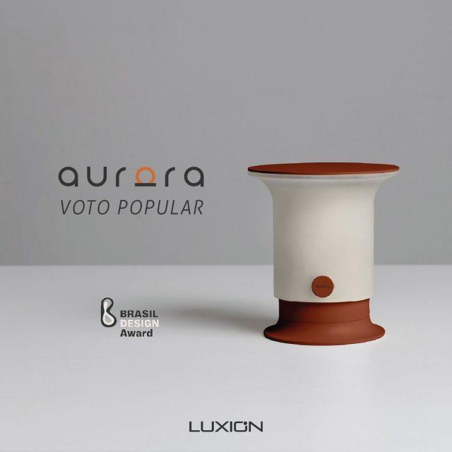 O voto popular está aberto!  Você pode votar na luminária Aurora clicando no link que está na bio.